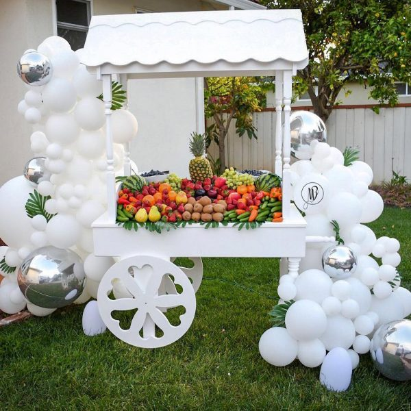 moon and blooms - balloon decor - custom balloons - california -10