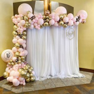 moon and blooms - balloon decor - custom balloons - california - 11