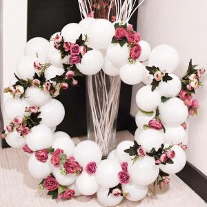 moon and blooms - balloon decor - custom balloons - california -12