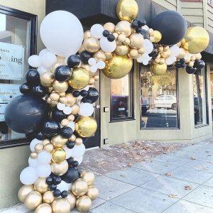 moon and blooms - balloon decor - custom balloons - california -24