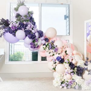 Floating Flower & Balloon Garland