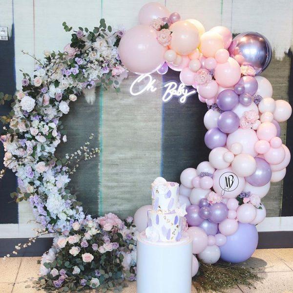 Half Flower Half Balloon Hoop